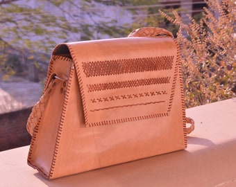 leather crafted bag