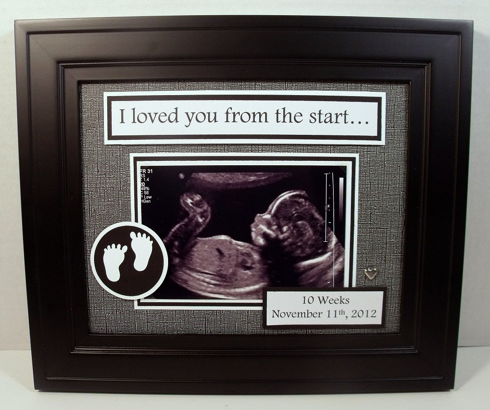 Sonogram Ultrasound Photo Mat Personalized 8x10 Unframed