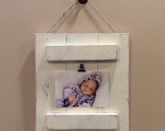 Rustic Distressed Pallet 4 x 6 Picture Frame. Home Decor. Photo board. Photo Frame Wall Decor. Picture Plaque. Baby Shower Gift Wedding Gift