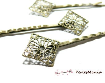 10 diamond lace, Bronze hair clips