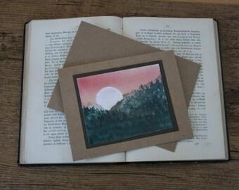 Greeting card - Mountain view