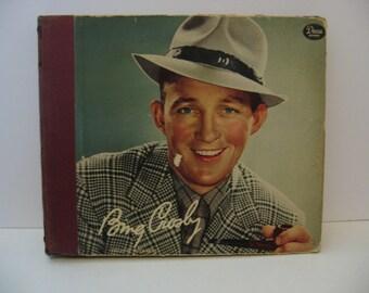 Vintage Bing Crosby 78 Binder - 1940's