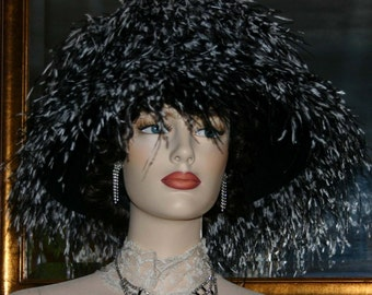 Kentucky Derby Hat, Ascot Hat, Del Mar Hat, 12+ colors available, LOTS of Feathers, Feather Hat  - Waltzing Matilda