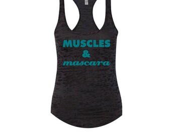 Wedding Workout Clothes Workout Tank Muscles and Mascara Motivational Workout Tank Workout Racerback Tank Gym Tank Racerback Tanktop B16