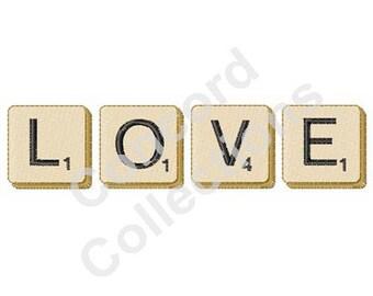 Love Word Machine Embroidery Design