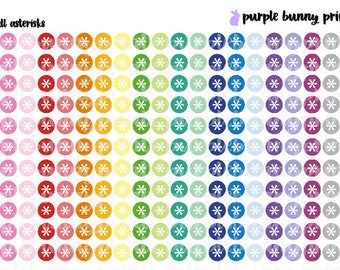 Rainbow Asterisks // SMALL // Planner Stickers!