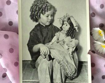 "Vintage photo Shirley Temple 1936 original photo 5""x7"" 20th Century Fox publicity still ""Stowaway"" classic movie, authentic BW photograph"