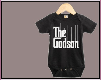 The GODSON Onesie. GodFather Parody, Funny Baby Onesie, Unisex Gift, Funny Toddler Shirt, Baby Shower Gift, Baby Boy, Newborn, Toddler Tee