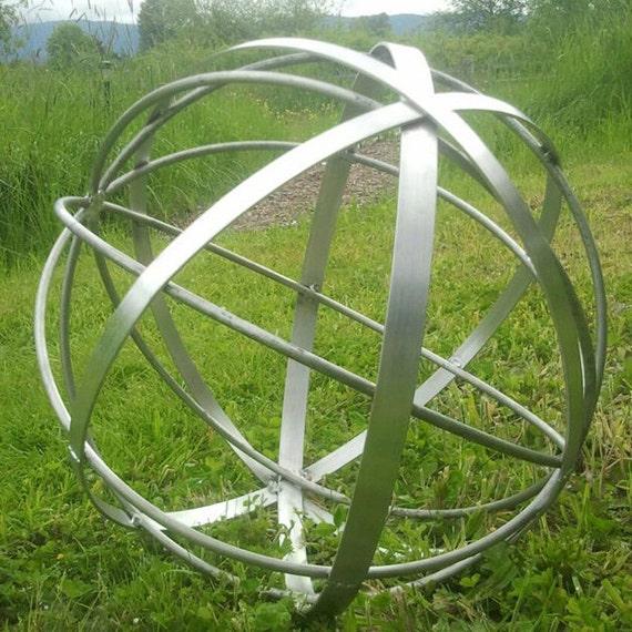 Stainless Steel Metal Garden Art Sphere Handmade 22