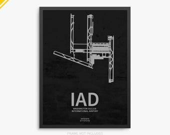 IAD Airport, Washington Dulles International Airport, Dulles Virginia, IAD Airport Poster, Dulles Airport, Dulles VA, Dulles Airport Poster