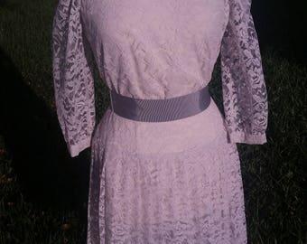 Size 8 Lace Dress 1970's by Leslie Fay Designer