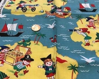 Michael Miller pirate kids fabric block 21 x 18 inches