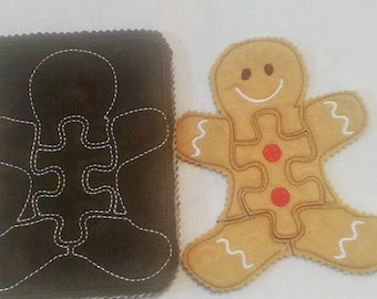 Livre feutrine - calme enfant livre puzzle de pain d'épice - livre - livre d'éveil enfant en bas âge - livre d'éveil une page - Noël #QB760