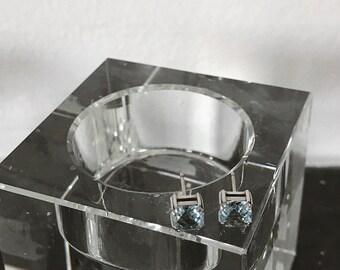Aquamarine petite earrings