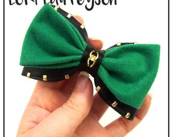 Loki Laufeyson Inspired Hair Bow / Bow Tie (Double / Single) (Marvel)
