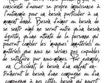 Background French Handwriting  Clear Cling Unmounted Rubber Stamp 082