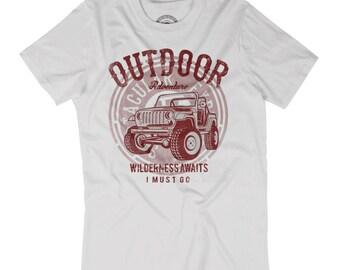 OFFROAD SHIRT Outdoor adventure tshirt Offroader gift Wilderness awaits shirt Offroading t-shirt Husband gift Explore outdoors shirt AP20