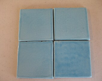20-Aqua Mist Mexican Clay Tile 4x4 (Shipping Included) (20)