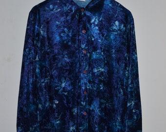 Vintage blue floral New Look shirt