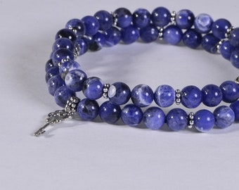 Sodalite Bracelet Heart Chakra Bracelet Multi Stone Bracelet Healing Bracelet Chakra Bracelet Gemstone Bracelet
