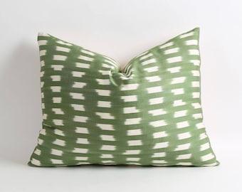 Ikat pillow, handwoven ikat throw pillow cover, 16x20 decorative ikat pillow, accent pillows