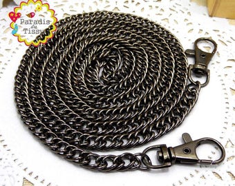 1 piece 120cm chain link to bag with gunmetal lobster clasp