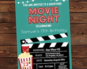 birthday movie invitations