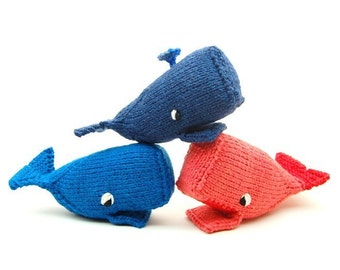 Whale Amigurumi Plush Toy Knit Pattern PDF Digital Download