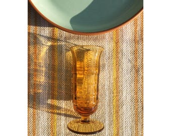 Amber Footed Champagne Glasses
