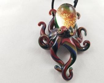 Octopus - Glass Pendant Necklace