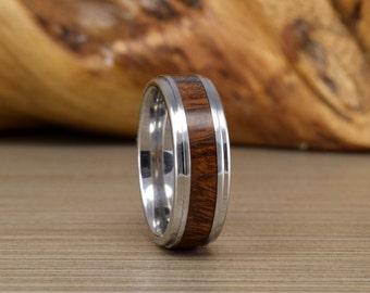 "Couples Wedding Ring - Cobalt and ""Rare"" Desert Ironwood - Woman' Wedding Ring // Mens Wedding Band // Unique Wedding Band"