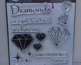 Diamond Love Stamp set by Imagine Design Create