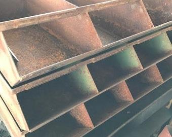 Vintage Hardware Storage Bins