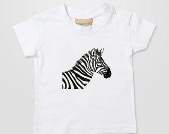 Zebra Kids tee, Baby, Cute Xmas Gift T Shirt Top Tee Boy Girl 0-6 months - 3-4 years