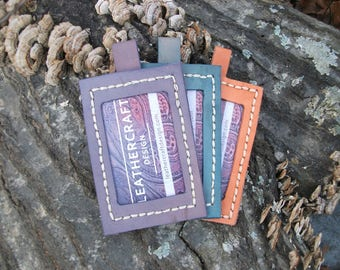 Leather ID holders. id badges, access card holder, school id badge holders, handmade leather id holders for lanyards. Lanyard sold separate.