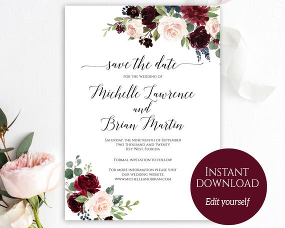 Save the date template save the date cards printable save solutioingenieria Gallery