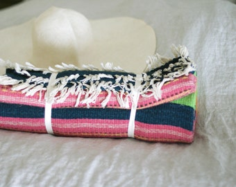 Vintage Hand Woven Wool Blanket/Rug/Textile Wall Hanging/Wool textile art/Tapestry/Weaving/Fiber Art