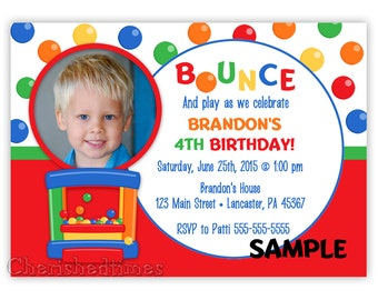 Bounce House Birthday Invitation Style 2 for Boy or Girl (Digital File)