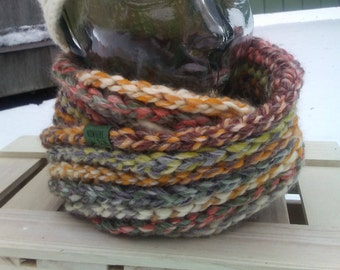 READY TO SHIP - Braided Texture - Infinity circle scarf - wool blend - Coney Island