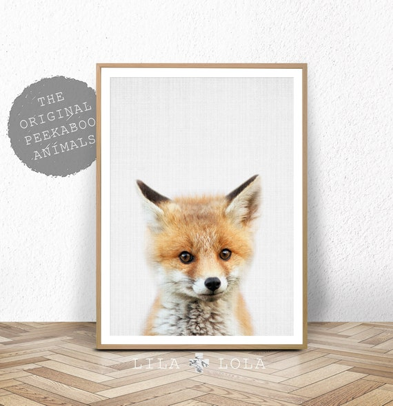 Fox Wall Art Print, Woodland Nursery, Printable Digital Download, Baby Animal, Babies Room Poster, Printable Nursery Fox, Woodland Animal
