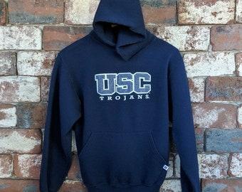 USC Trojans patched felt hoodie