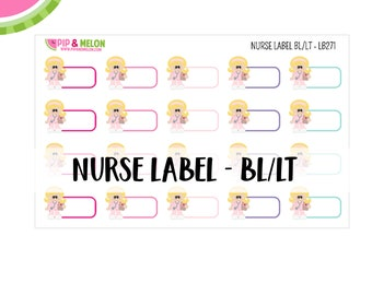 Nurse Label Sticker| Blonde Hair/Light Skintone | 20 Kiss-Cut Stickers | Medical, Work Schedule, Appointment, Treatment | LB271