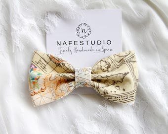 Mens Bow Tie Pre-tied Bow Tie For Men - Destination Wedding Gift For Groom World Map Bow Tie Honeymoon Honeymooners Newlyweds Newlywed Gift