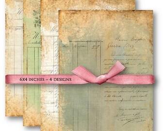 Vintage Ephemera Digital Collage Sheet Download -653- Digital Paper - Instant Download Printables