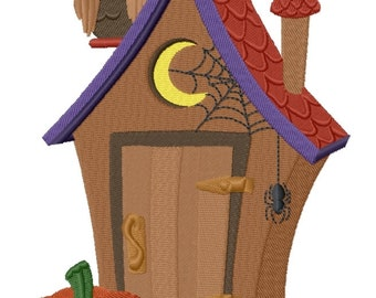 Halloween Outhouse for Goblins (4.73 x 6.86) Iron-on Patch - Iron on Patch - Embroidered Patch - MADE TO ORDER