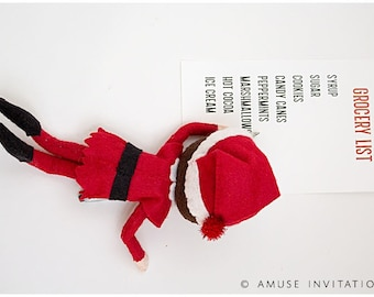 Elf Makes Grocery List, Naughty Elf Idea, Christmas Elf Accessories, Santa's Elf Prop, Elf Printable, Christmas Elf Ideas, Easy Elf Ideas