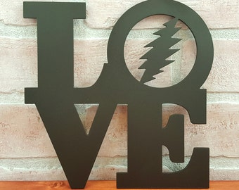 Grateful Dead Philadelphia LOVE Park Trivet - Hot plate - Grateful Dead wedding gift - Philly Dead Heads Home Décor