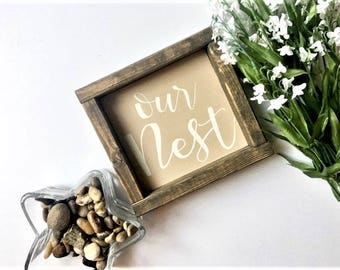Our Nest | Wood Sign | Home Decor | Pinterest | Farmhouse Style