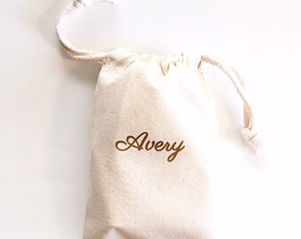 Personalized Bridesmaid gifts under 20 -  Jewelry bag - Personalized Bridesmaid gifts - Name bag