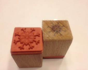 small snowflake rubber stamps, 16 mm (SB2)